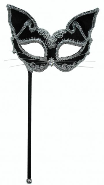 Black Cat Stick Mask